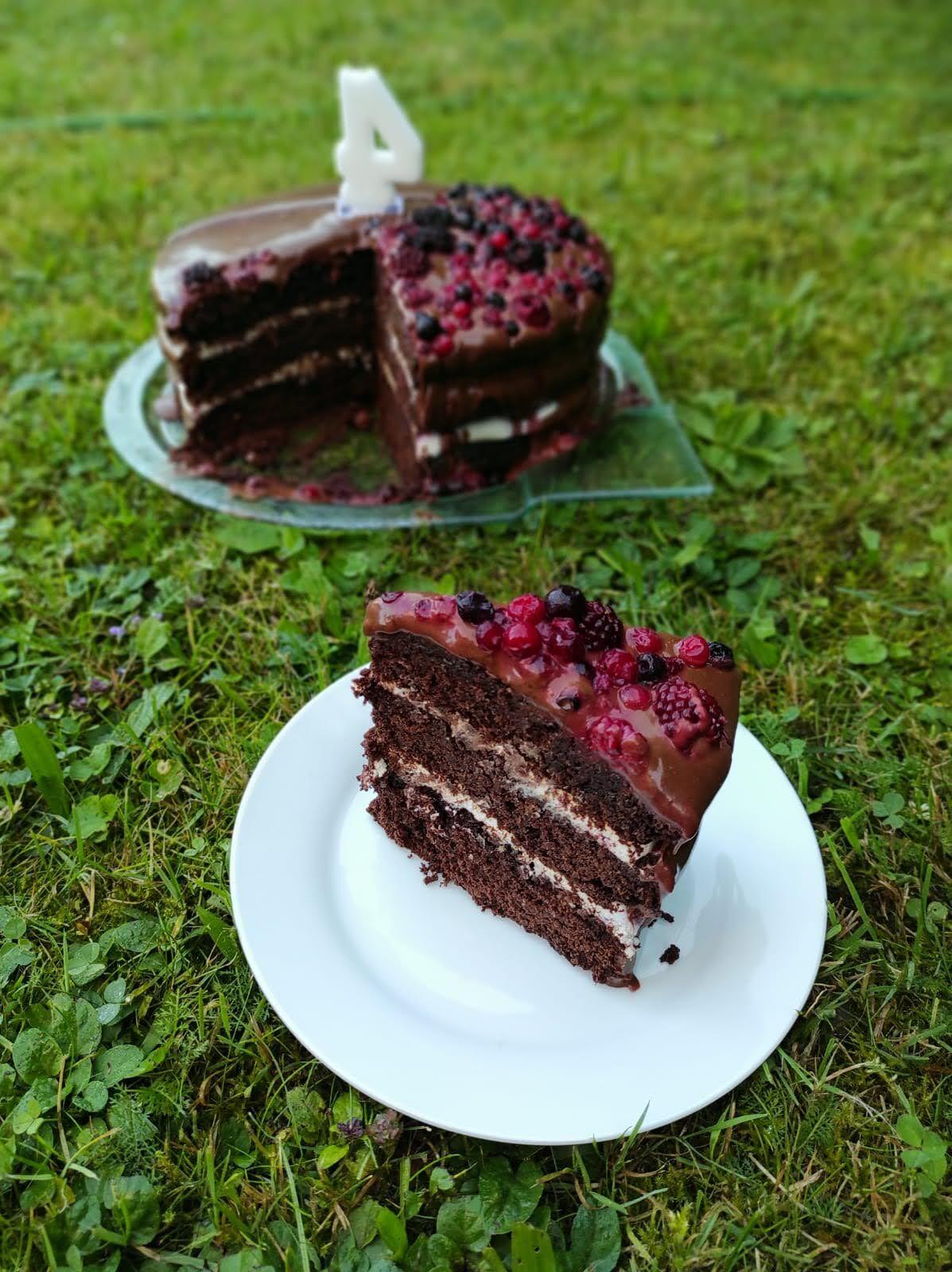 Čokoládový dort, bez lepku, mléka, vajec aořechů